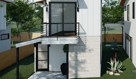 The 201 Tillery Square, Building 2 will be <b>Available March 2021</b> and is an exciting new modern home with 2 Bedrooms, 2.5 Bathrooms, and its own Carport.