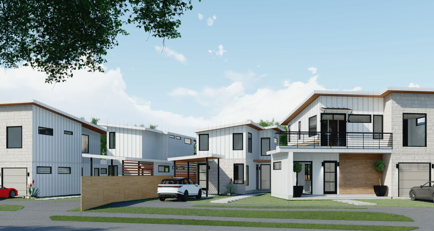 Modern Homes on Tillery Street in East Austin, Texas from Alpha Builders Group